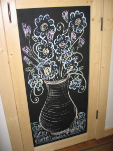 chalk bouquet