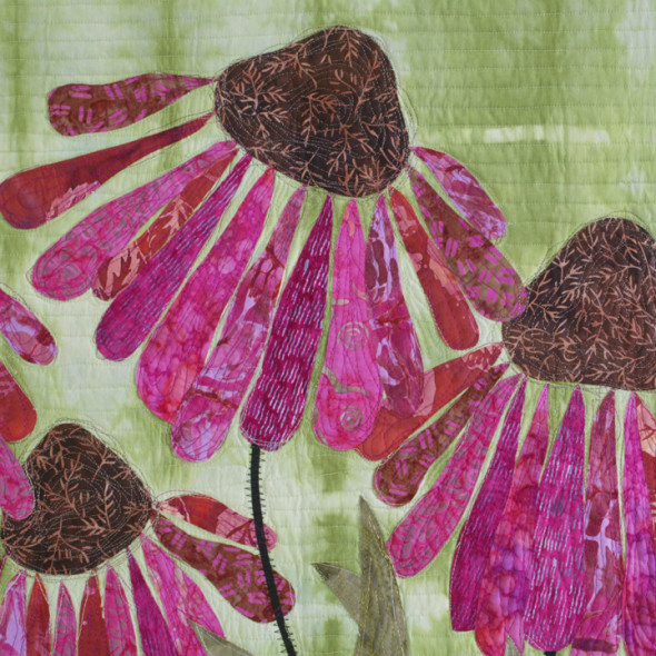 coneflowers 1 by joyce robinson detail