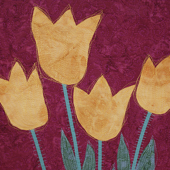 fresh cut tulips square by joyce robinson