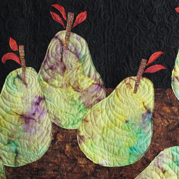 pears still life detail by joyce robinson
