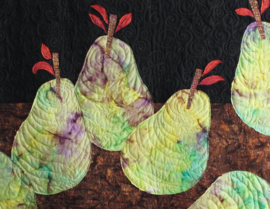 pears still life detail by joyce robinson