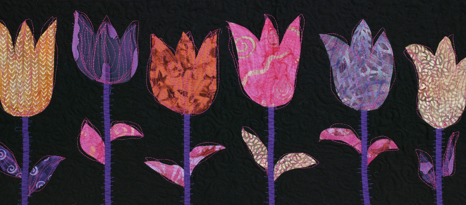 tulip patch detail by joyce robinson